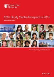 CSU Study Centre Prospectus 2013 - Study Group