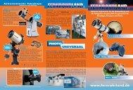 Astronomische Teleskope - Fernrohrland