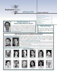 NEWSLETTER - Biophysical Society
