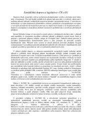 Zemědělská doprava a legislativa v ČR a EU - SVT