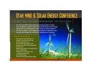 Utah Wind and Solar Energy Conference - Wind Powering America