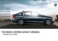 THE BMW  SERIES GRAN TURISMO. - Bmwasia-training.com