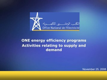 Supply side energy efficiency - Euromedina