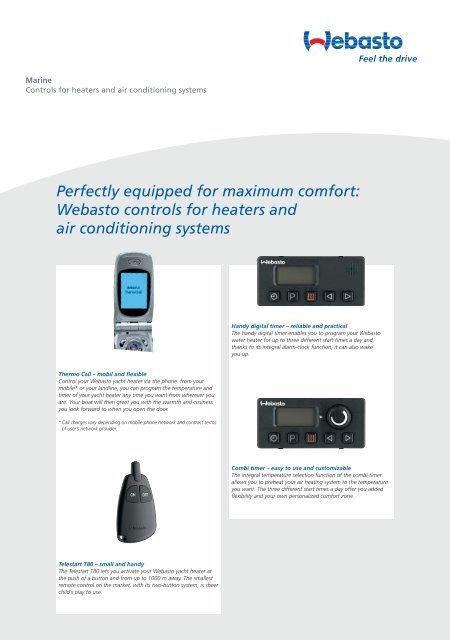 Webasto Controls For - ECR marine
