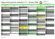 Kalender 2008 - zweiseitig - Bürgerschützenverein Aulendorf eV