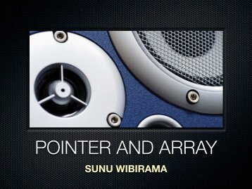 POINTER AND ARRAY