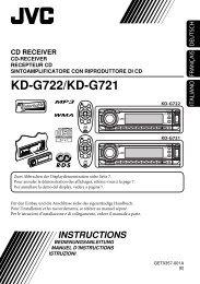 KD-G722/KD-G721 - Jvc
