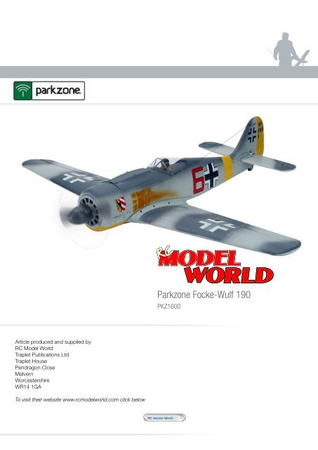 FOR FW-190 RADIO CONTROL AIRPLANE PARKZONE PAINTED WING NO SERVO