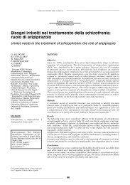 Bisogni irrisolti nel trattamento della schizofrenia: ruolo di aripiprazolo
