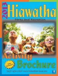 Parks and Recreation - City of Hiawatha