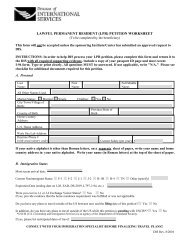 lawful permanent resident (lpr) petition worksheet - NIH Division of ...