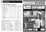 Team Aargau U-21 FC Thalwil - FC Aarau