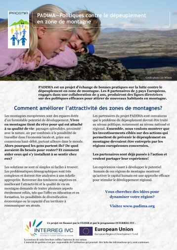 PADIMA—Politiques contre le dépeuplement en ... - Euromontana