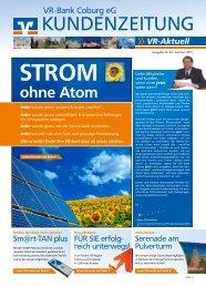 Kundenzeitung Nr. 20 - Sommer 2011 - VR-Bank Coburg eG