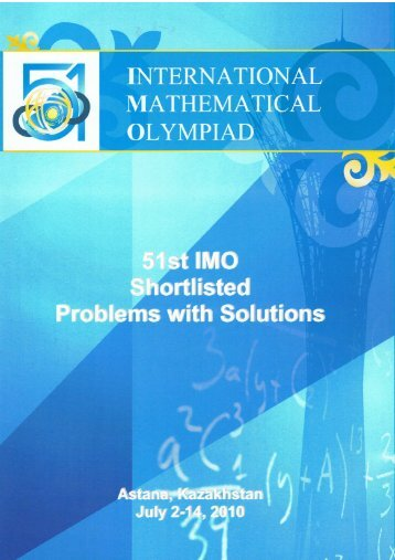 Shortlisted Problems and Solutions - International Mathematical ...