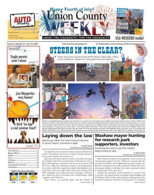 Oakboro Auto Group >> Union County Union County Carolina Weekly Newspapers