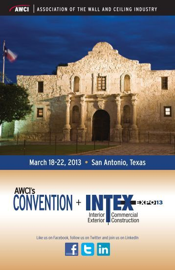 March 18-22, 2013 • San Antonio, Texas - J. Spargo & Associates