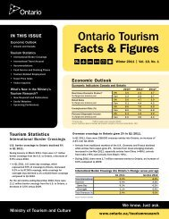 Winter 2011 | Vol. 10, No. 1 - Ministry of Tourism - Ontario.ca