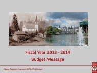 Proposed FY 2013/2014 Budget Message ... - City of Tualatin