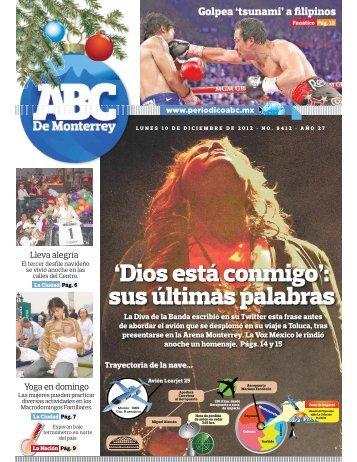'Dios está conmigo': sus últimas palabras - Periodicoabc.mx
