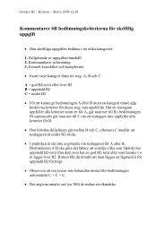 Bedömningskriterier för skriftlig uppgift - Folkuniversitetet