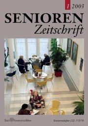 Die gesamte Ausgabe 1/2003 als pdf-Datei - Senioren Zeitschrift ...