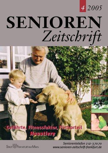 Gefährte, Fitnessfaktor, Flirtvorteil - Senioren Zeitschrift Frankfurt