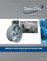 TubeAxIAl pAInT SprAy booTh exhAuST fAnS - Twin City Fan & Blower