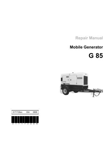 Repair Manual Mobile Generator Wacker Neuson