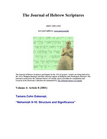 Nehemiah 9-10: Structure and Significance - Fontes