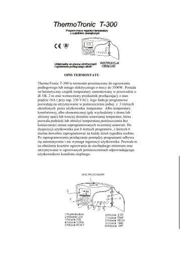 OPIS TERMOSTATU Thermotronic T-300 to termostat ...