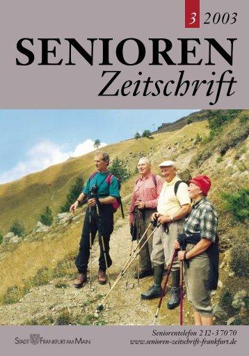 Die gesamte Ausgabe 3/2003 als pdf-Datei - Senioren Zeitschrift ...