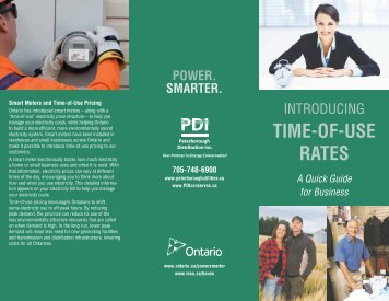 Introducing Time of Use Rates - Peterborough Utilities