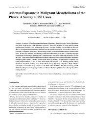 Asbestos Exposure in Malignant Mesothelioma of the Pleura: A ...