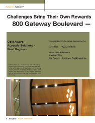 800 Gateway Boulevard - Ceilings & Interior Systems Construction ...