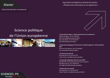 Consulter la plaquette - Sciences Po Grenoble