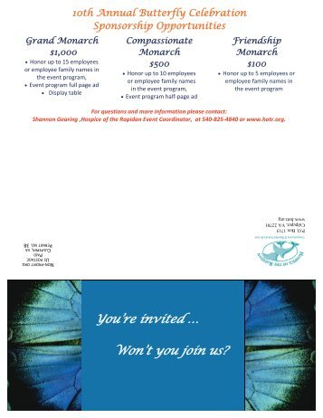 You're invited … Won't you join us? - Hospice of the Rapidan