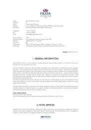 1. general information 2. hotel services - Palladium Hotel Group