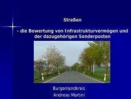 Straßen - die Bewertung von Infrastrukturvermögen und der