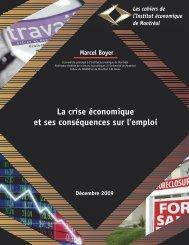 La crise économique et ses conséquences sur l'emploi - IEDM