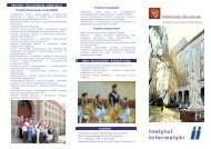 Folder Instytutu (wersja 2012 do podglądu 330kB) - Instytut Informatyki