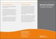 IMPLANTS DENTAIRES - Fondation Implants Suisse