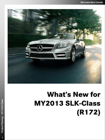 SLK 250 Option Packages & Highlights ... - Mercedes-Benz Blainville