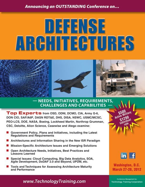 Download the Defense Architectures Brochure - Casewise