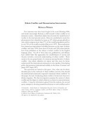 Ethnic Conflict and Humanitarian Intervention Rebecca Wieters