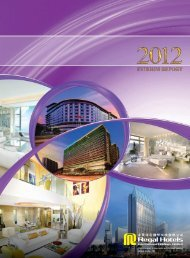 2012 Interim Report - Investor Relations - Regal Hotels International