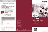 Broschüre HPLC-Tage 2012.indd - bei NOVIA