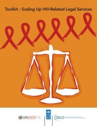 Toolkit : Scaling Up HIV-Related Legal Services - unaids