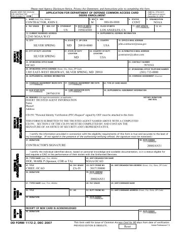 Dd Form 1172 2 Application For Department Of Osan Air Base