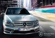 C-Class Sedan Pricing & Equipment List (PDF - Mercedes-Benz ...